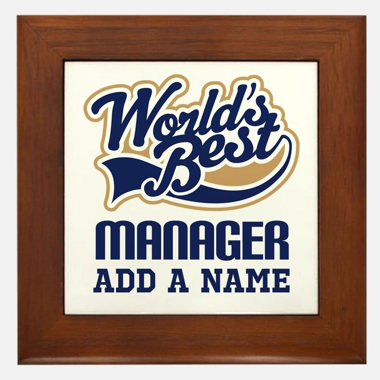 Manager Gift personalized Framed Tile