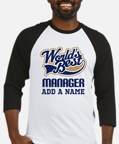 Manager Gift personalized Baseball Jersey