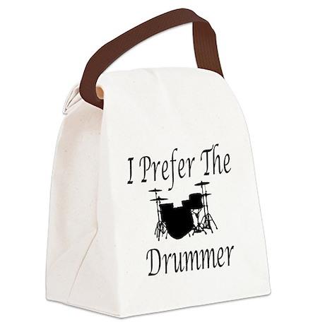 I Prefer The Drummer Canvas Lunch Bag