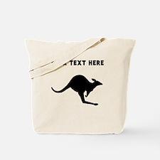 Custom Kangaroo Silhouette Tote Bag