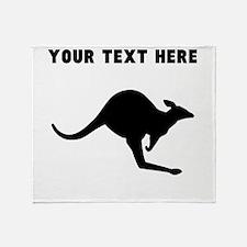 Custom Kangaroo Silhouette Throw Blanket