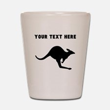 Custom Kangaroo Silhouette Shot Glass