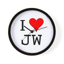 I Love JW Wall Clock