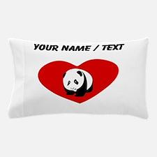 Custom Panda Heart Pillow Case