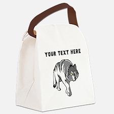 Custom Arctic Wolf Canvas Lunch Bag