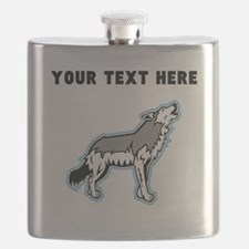 Custom Howling Wolf Flask