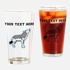 Custom Howling Wolf Drinking Glass