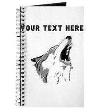 Custom Howling Wolf Journal