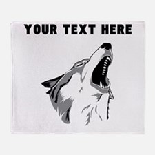 Custom Howling Wolf Throw Blanket