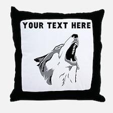 Custom Howling Wolf Throw Pillow