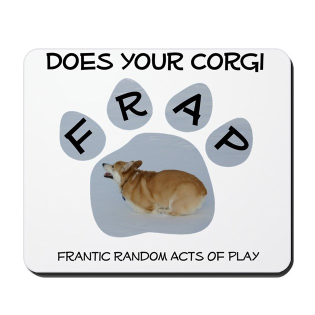 Welsh corgi frapping mousepad by welshcorgishop