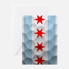 Chicago Flag Golf Ball Greeting Cards