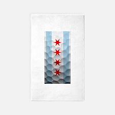 Chicago Flag Golf Ball 3'x5' Area Rug