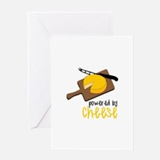 Powered By Cheese Greeting Cards