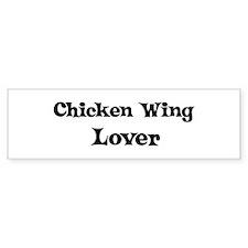 Chicken Wing lover Bumper Car Sticker