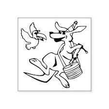 Kangaroo Cartoon Sticker