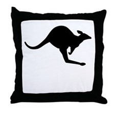 Kangaroo Silhouette Throw Pillow