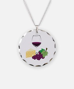 Wine And Cheese Necklace