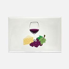 Wine And Cheese Magnets