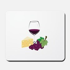 Wine And Cheese Mousepad
