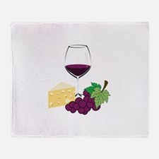 Wine And Cheese Throw Blanket