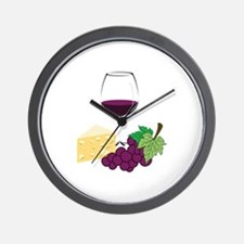 Wine And Cheese Wall Clock
