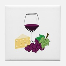 Wine And Cheese Tile Coaster