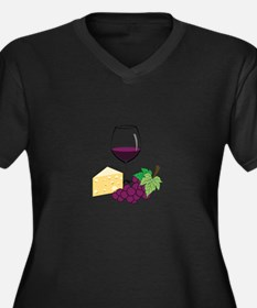 Wine And Cheese Plus Size T-Shirt