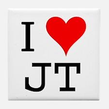 I Love JT Tile Coaster