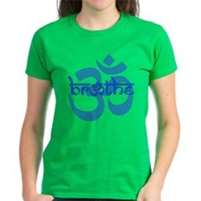 Breathe, Om Kelly Green T-Shirt