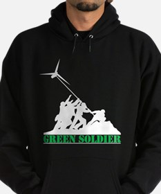 Green Soldier Wind Turbine Hoodie