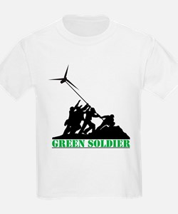 Green Soldier Wind Turbine T-Shirt