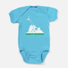 Green Soldier Wind Turbine Baby Bodysuit