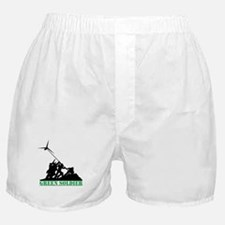 Green Soldier Wind Turbine Boxer Shorts