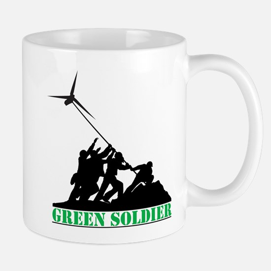Green Soldier Wind Turbine Mug