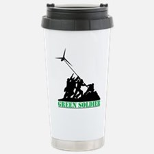 Green Soldier Wind Turb Stainless Steel Travel Mug