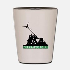 Green Soldier Wind Turbine Shot Glass