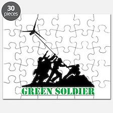Green Soldier Wind Turbine Puzzle