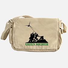 Green Soldier Wind Turbine Messenger Bag