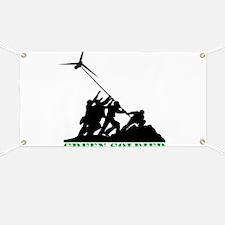 Green Soldier Wind Turbine Banner