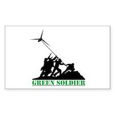 Green Soldier Wind Turbine Decal