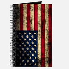 Vintage American Flag Grunge Journal