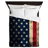 Vintage american flag Luxe Full/Queen Duvet Cover
