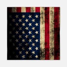 Vintage American Flag Grunge Queen Duvet