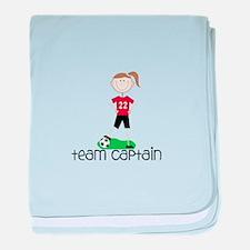 Team Captain baby blanket