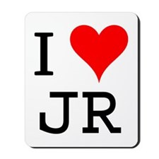 I Love JR Mousepad