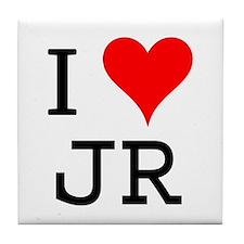 I Love JR Tile Coaster