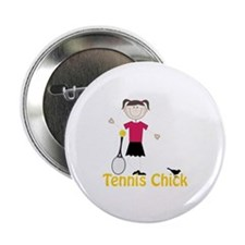 "Tennis Chick 2.25"" Button (100 pack)"