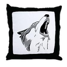 Howling Wolf Throw Pillow