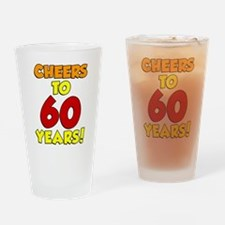 Cheers to 60 Years Glass Drinking Glass